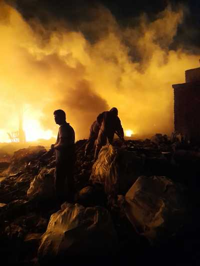 Delhi news: Fire breaks out in godown at Tikri Kalan PVC market, no casualties
