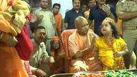 CM Adityanath celebrates 'Krishna Janmashtami' with children at Gorakhnath temple