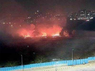 Garbage burning in Kharadi irks residents