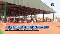 R-Day Delhi violence accused Lakha Sidhana seen at farmers' rally in Bathinda