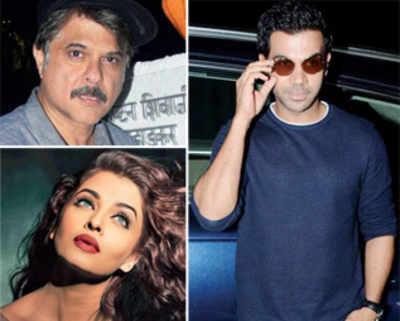 Aishwarya Rai, Anil Kapoor, Rajkummar Rao shoot for Fanney Khan in the rains