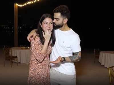 Parents-to-be Anushka Sharma and Virat Kohli celebrate pregnancy news with RCB team