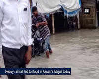 Heavy downpour triggers flood in Assam's Majuli