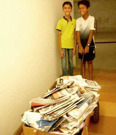 Recycling paper sale idea to fund migrants' kids