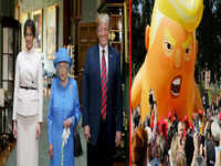 Donald Trump meets Queen Elizabeth II, thousands register their protest with 'Trump baby'