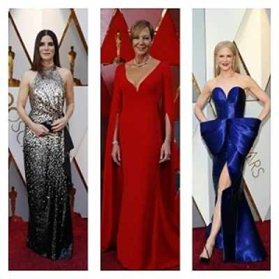 Oscars 2018: From  Meryl Streep,  Sandra Bullock  to Jennifer Lawrence and  Nicole Kidman, celebrities look vibrant in a melange of happy colours