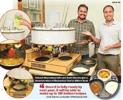 Bengaluru-based startup, former aerospace engineer of Team Indus come together to cook up a storm, with a robot