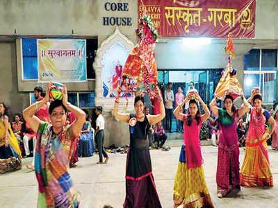 Now, dance to garba tunes in Sanskrit