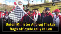 Union Minister Anurag Thakur flags off cycle rally in Leh