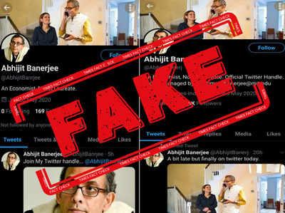 Fake alert: Twitter accounts under the name of Nobel Prize winner Abhijit Banerjee are fake