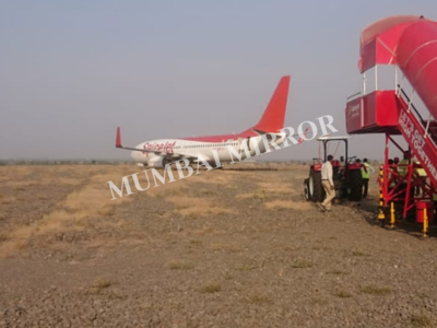 SpiceJet plane overshoots runway on landing at Shirdi