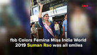 BACK TO HER ROOTS: fbb Colors Femina Miss India World 2019 Suman Rao arrives in Jaipur for her homecoming