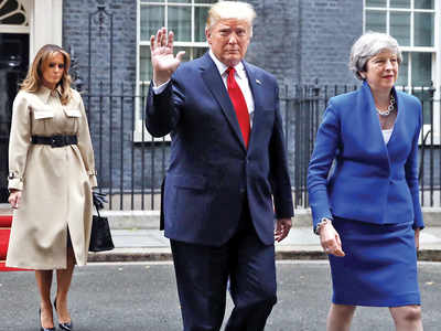 Trump meets May, talks about business, Brexit