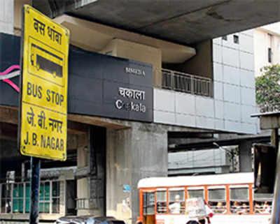 Chakala Metro Station is 2 km from Chakala