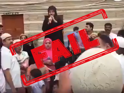 Fact check: Who is this burqa-clad woman raising slogans against opposition leaders?