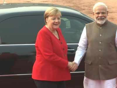 India accepts Germany's request to allow Angela Merkel to sit during ceremonial reception