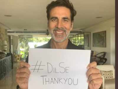 Akshay Kumar thanks those on the COVID-19 frontline; starts #DilSeThankYou campaign to show gratitude