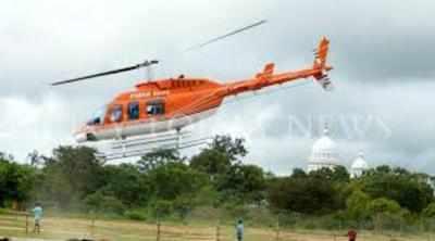 Mysuru: Tension prevails for Dasara heli ride visitors: Helicopter makes emergency landing after apparent bird strike; pilot injured