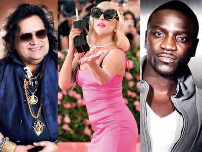 Bappi Lahiri makes music with Lady Gaga and Akon now