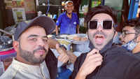 Aparshakti Khurana visits the famous Baba Ka Dhaba in Delhi