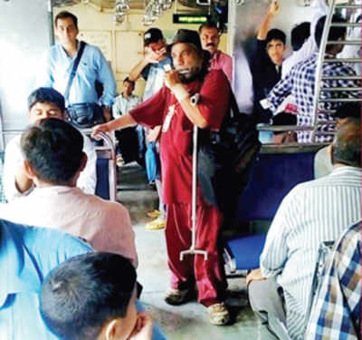 Long alms of the law for beggars singing the Centre's theme