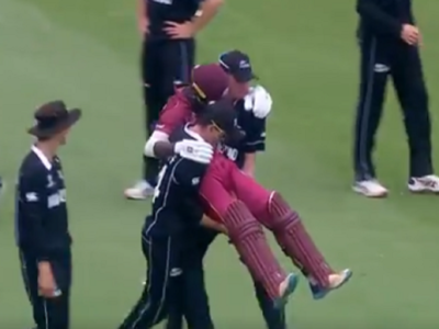 ICC U-19 World Cup: In a heartwarming moment, New Zealand players carry injured West Indies cricketer