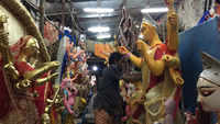 Durga Puja 2019: Bengal artists give finishing touches to idols