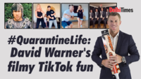 "#QuarantineLife"" David Warner's filmy TikTok fun"