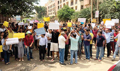 Thuburahalli residents protest potholed road, corporator says 'This is not a road'