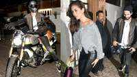 Shahid Kapoor rides his bike to dinner date while wifey Mira Rajput opts for a car