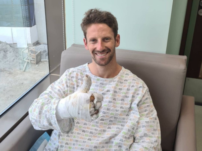 Loving life: Formula 1 driver Romain Grosjean thanks supporters for messages