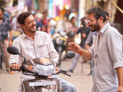 Irrfan, Homi share a light moment on the sets of Angrezi Medium
