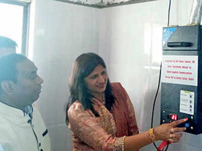 Rajkot GST office to gift sanitary pad vending machine to school