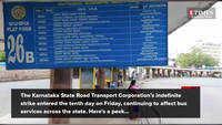 Karnataka bus strike: Strike enters 10th day, bus services remain hit