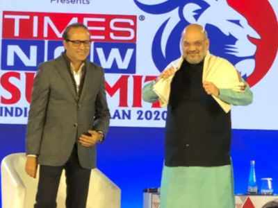 Watch: Speeches like 'goli maro', 'Indo-Pak match' should not have been made by BJP leaders: says Amit Shah at Times Now Summit