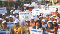 A walkathon to ensure high voting in the city