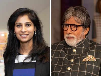 Amitabh Bachchan calls IMF Chief Economist Gita Gopinath a 'beautiful face', she responds