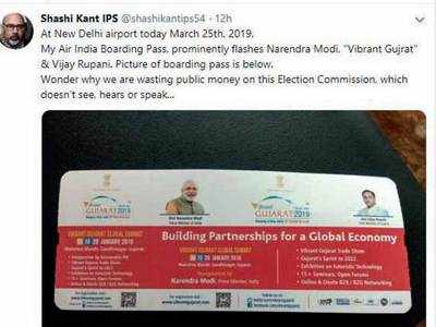 AI pulls back boarding passes with PM Modi, CM Vijay Rupani pictures