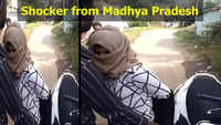 Viral video: Woman forced to remove burqa by mob in MP