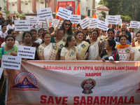 Nagpur: Hundreds take part in 'Save Sabarimala' procession, say traditions must be respected