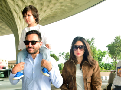 Photos: Taimur off to vacation with parents Kareena Kapoor and Saif Ali Khan