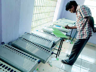 Latest EVMs when Bengaluru votes