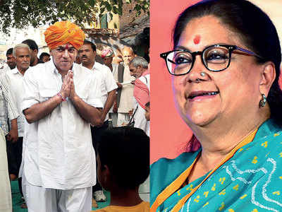 2019 General Elections: Congress leader Manvendra Singh to fight against Rajasthan CM Vasundhara Raje in her constituency