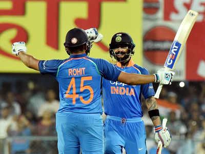 1st ODI: Kohli, Rohit trample West Indies in India's 8-wicket win