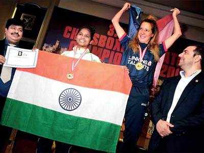 City woman wins silver in chess-boxing tourney