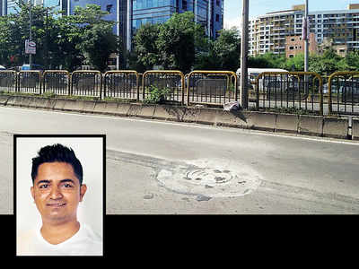 Tired of a bad commute, techie fixes Wakad road
