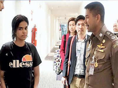 Hashtag saves fleeing Saudi teenager