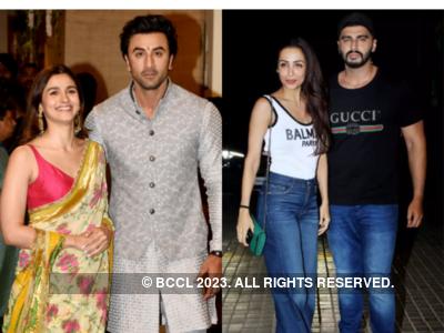 Photo: When Ranbir Kapoor and Alia Bhatt, Arjun Kapoor and Malaika Arora sealed it with a kiss