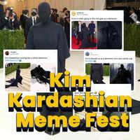 Kim Kardashian's meme fest at Met Gala