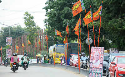 BJP meet causes jam near Hope Farm